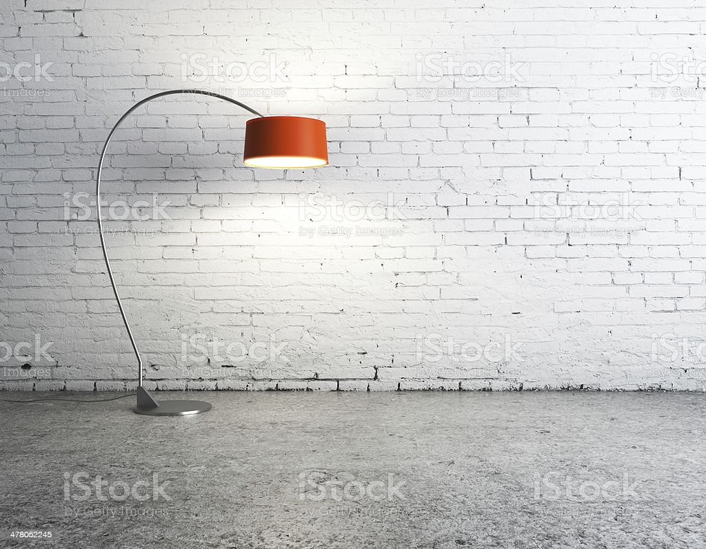 lamp in room stock photo