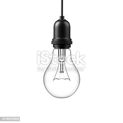 istock Lamp light bulb. 3D illustration 618935958