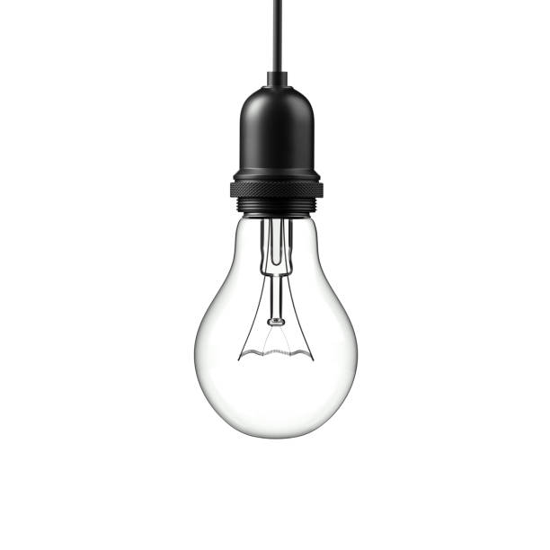 Lamp light bulb. 3D illustration stock photo