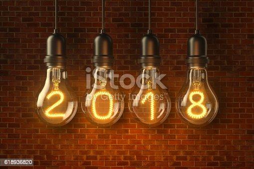 istock Lamp light bulbs. 3D illustration 618936820