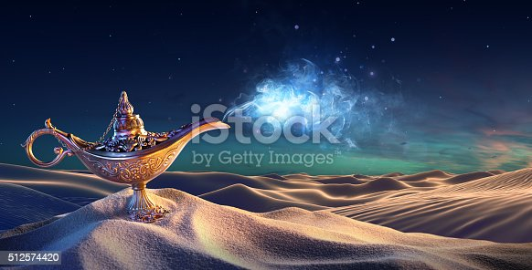 istock Lamp of Wishes In The Desert 512574420