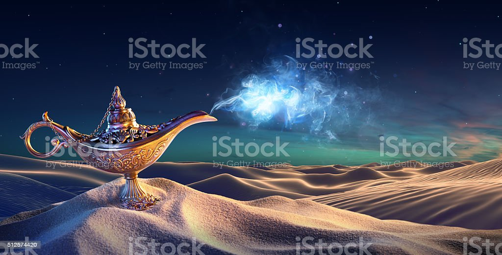 Lamp of Wishes In The Desert stock photo