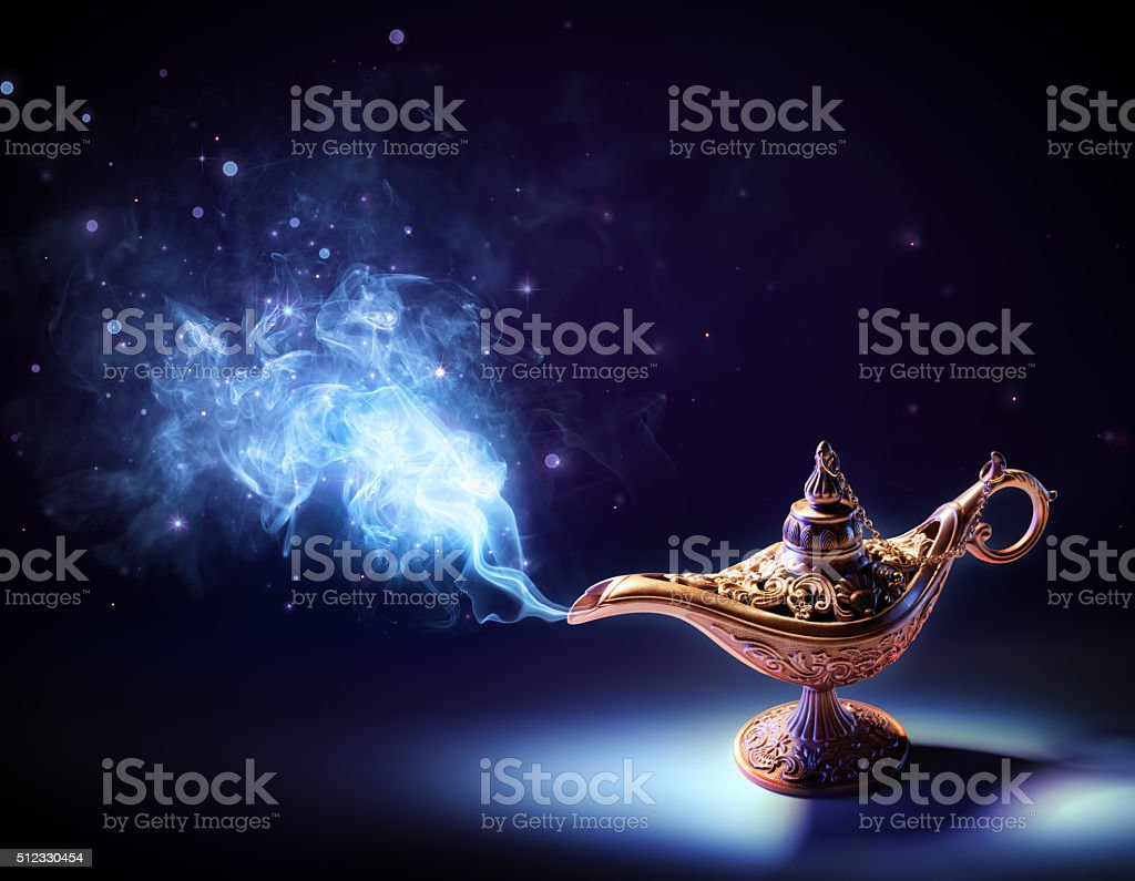 Lamp Of Wishes stock photo