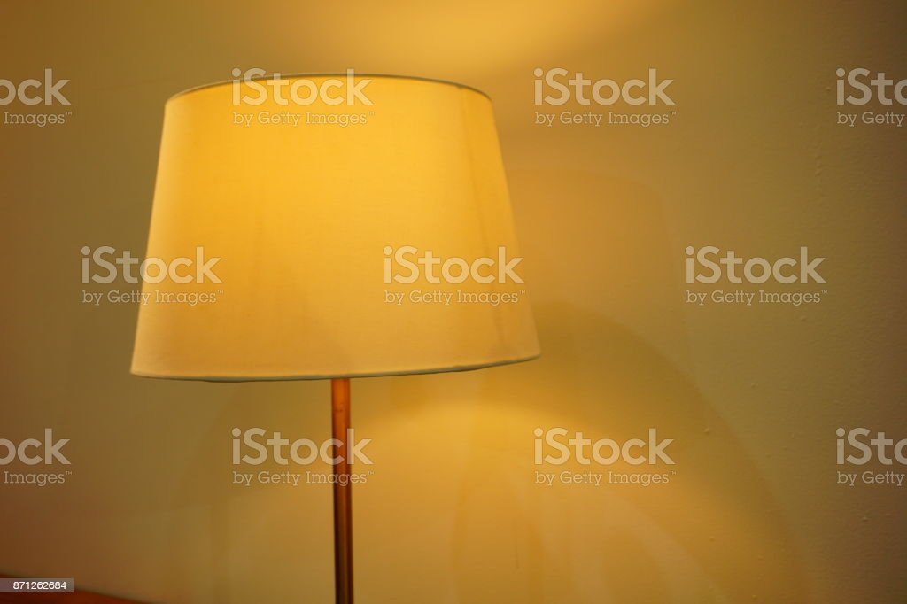 Electric Lamp, Equipment, Linen, Night Table, Close-up