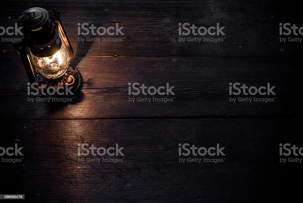 Lamp on the table in twilight royalty-free stock photo