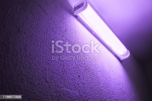 UV lamp on the wall.