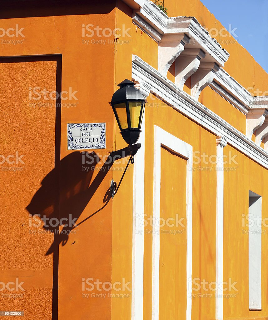 Lamp on the wall - Royalty-free Antique Stock Photo