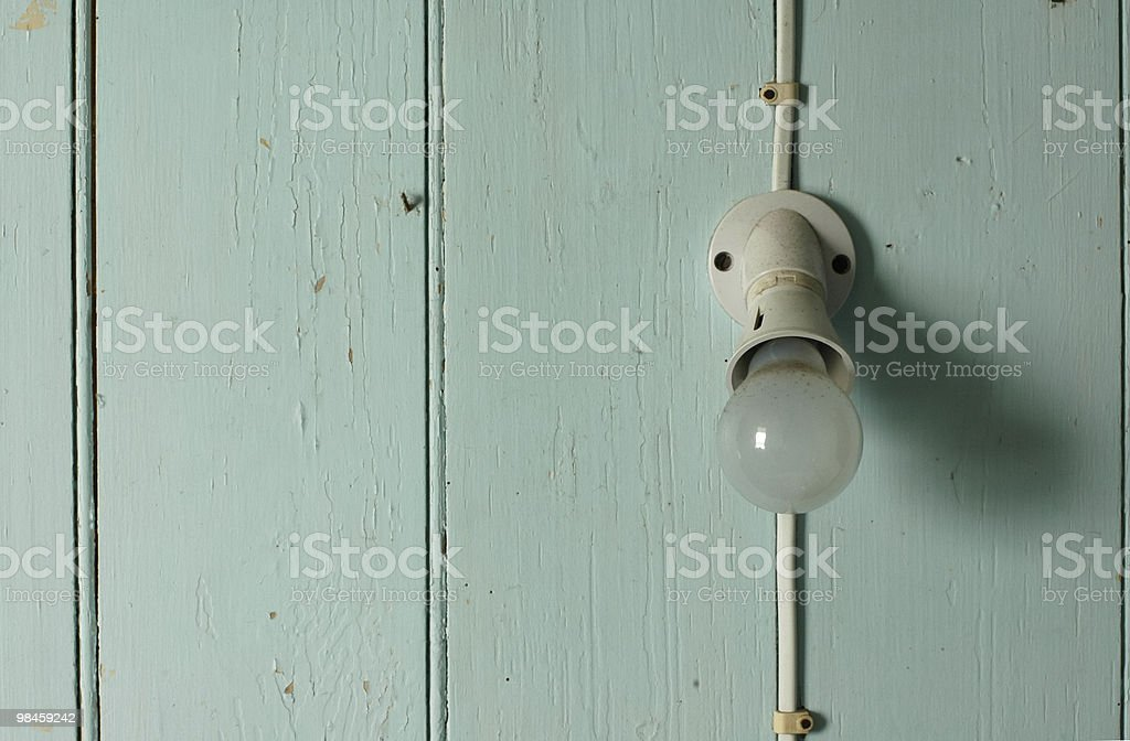 Lamp on wall royalty-free stock photo