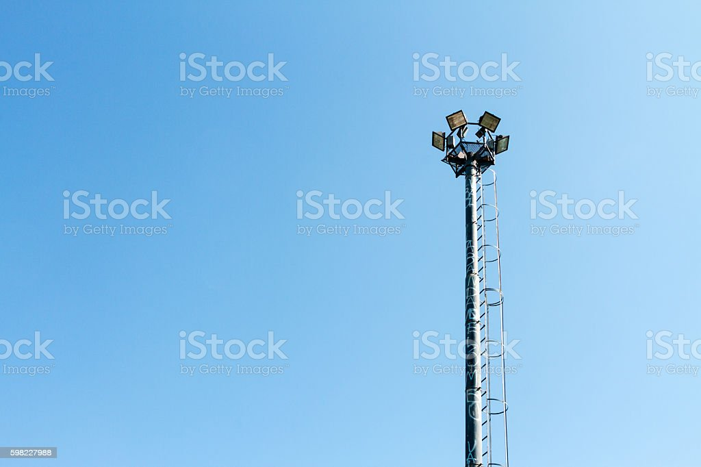 Lamp pole off with blue sky foto royalty-free