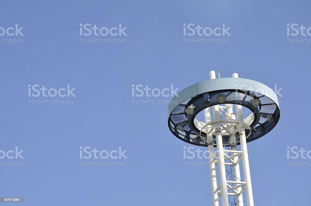 Lamp post against blue sky royaltyfri bildbanksbilder