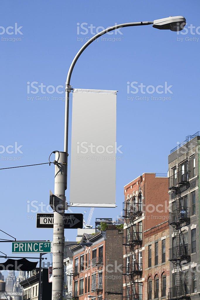 lamp post flag stock photo