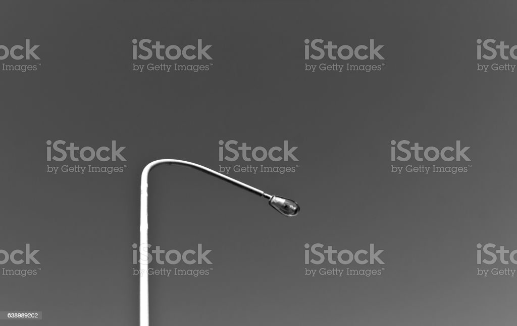 Lamp post in black and white. stock photo