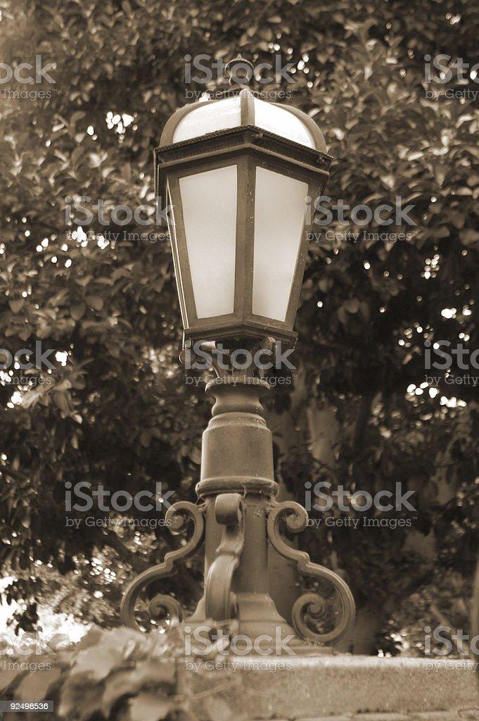 Lamp Sepia royalty-free stock photo