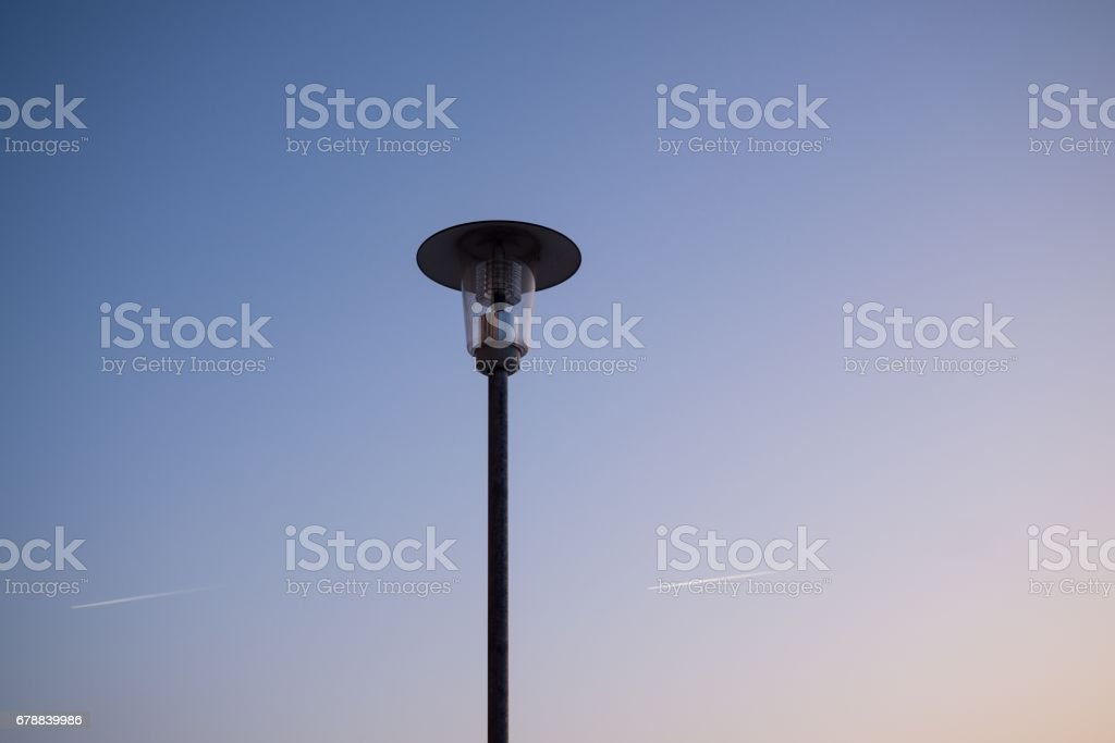 Lamp silhouette. royalty-free stock photo