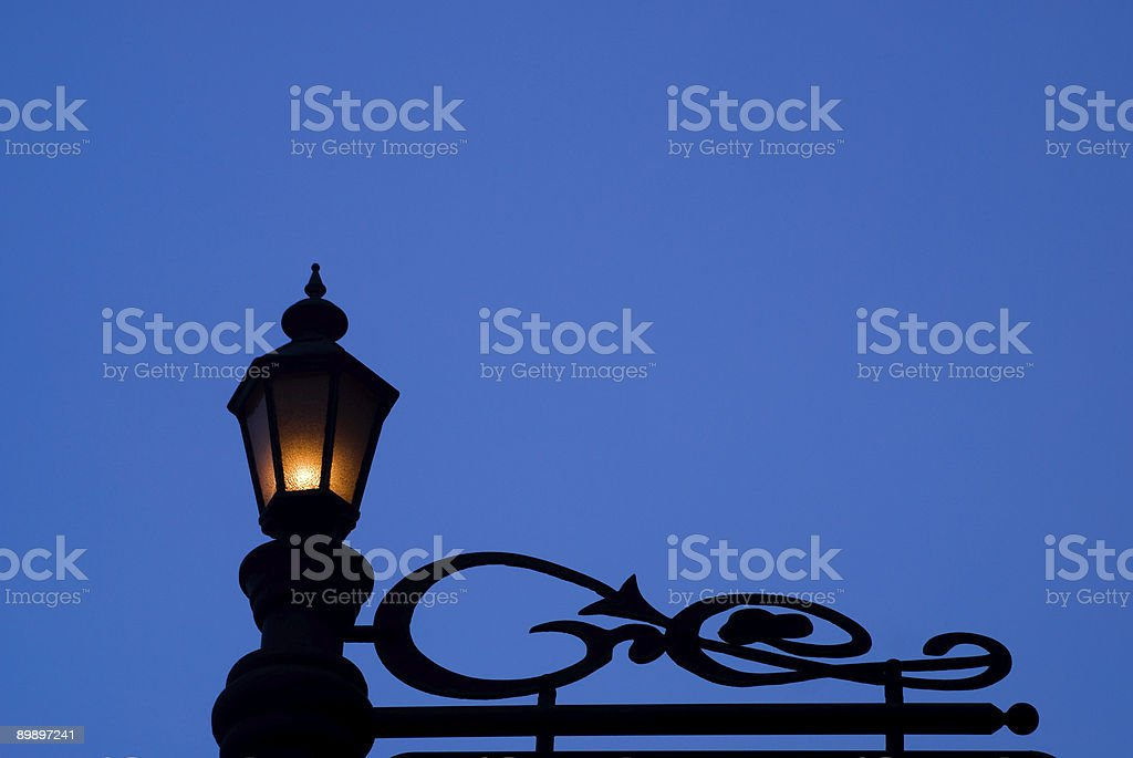 Lamp silhouette royalty-free stock photo