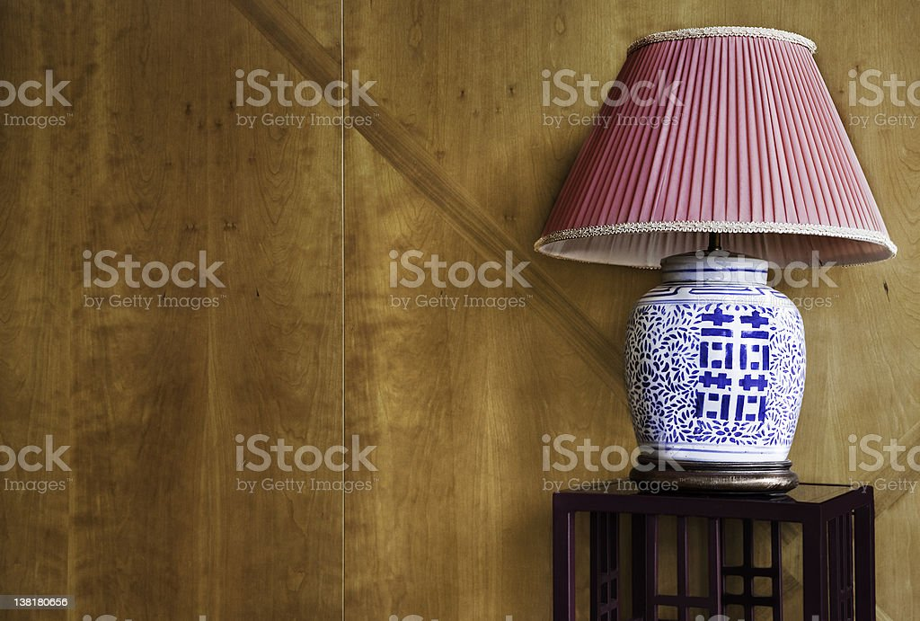 Lamp with chinese characters royalty-free stock photo