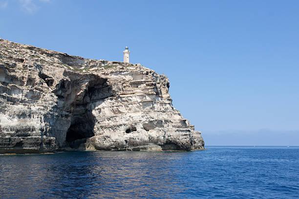Lampedusa island stock photo