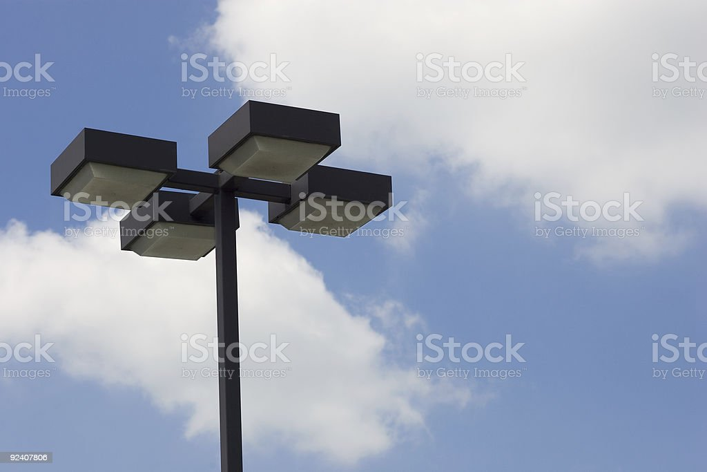 Lampost on sky royalty-free stock photo