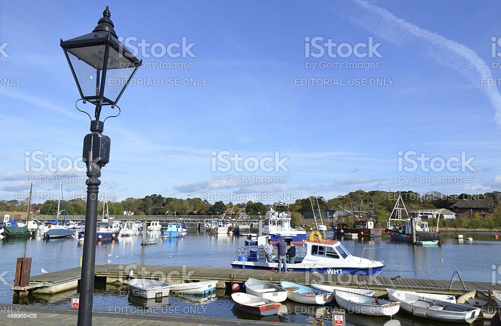Lamppost and Quay stock photo