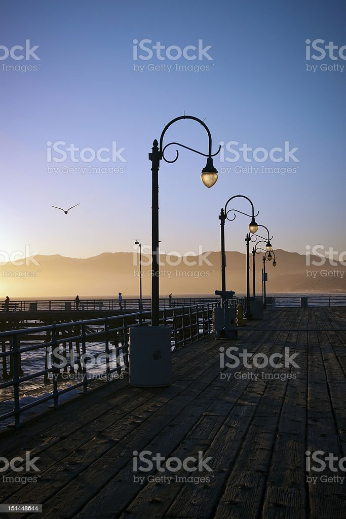 Lamppost at Sunset royalty-free stock photo