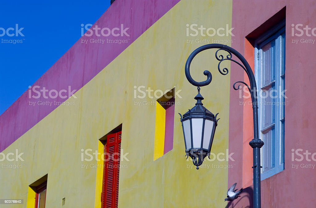 Lamppost in LaBoca stock photo