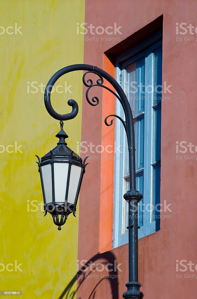Lamppost on a Street in La Boca royalty-free stock photo