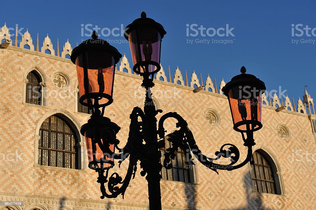 Lampposts in Venice royalty-free stock photo