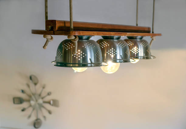 DIY lamps and decoration stock photo