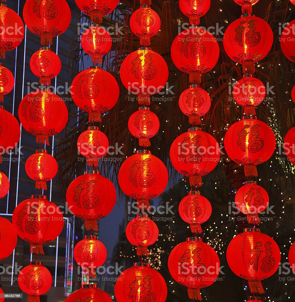 Lamps in the Chinese new year royalty-free stock photo