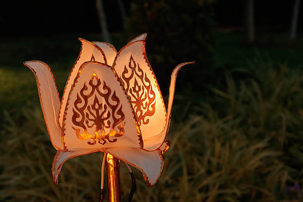 lamps or paper lantern - kratong stock photos and pictures