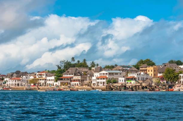 Lamu old town waterfront, Kenya, UNESCO World Heritage site stock photo