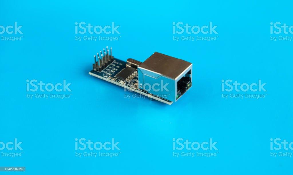 LAN Ethernet Arduino Module. conector Arduino de red Ethernet - foto de stock