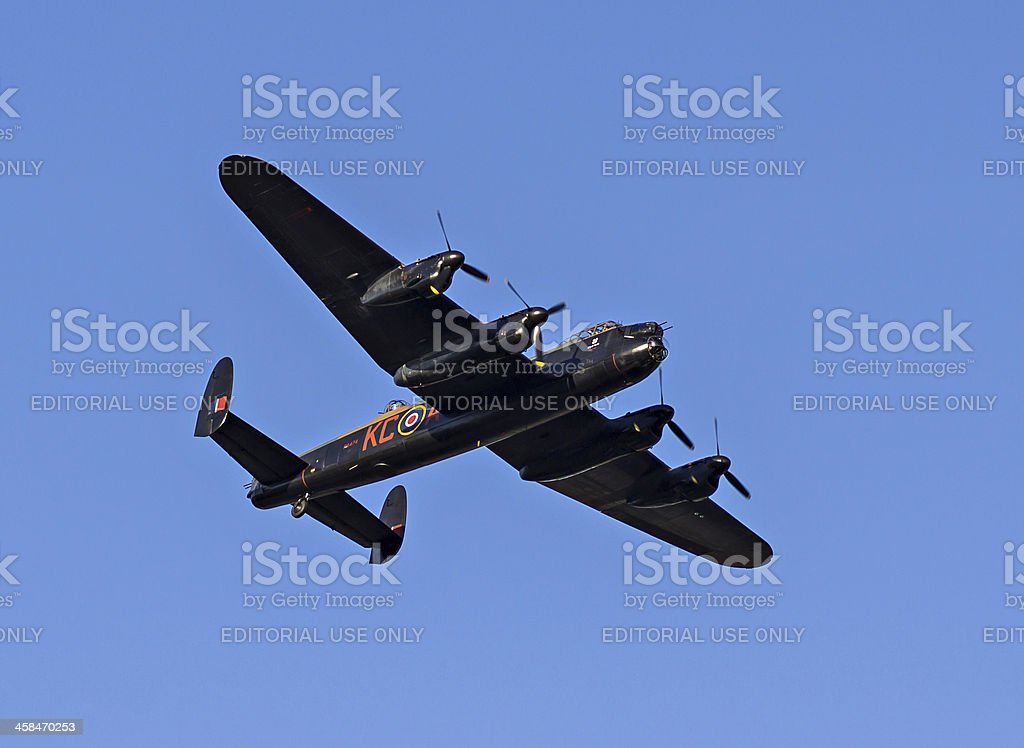 Lanacster Bomber PA474 The City of Lincoln royalty-free stock photo