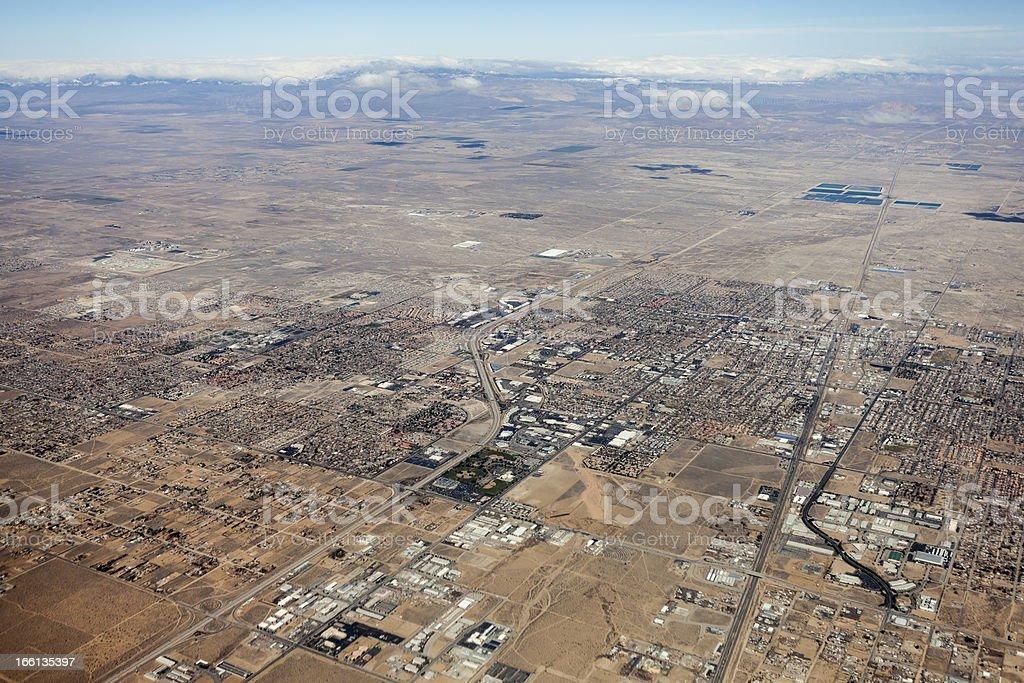 Lancaster California Aerial stock photo