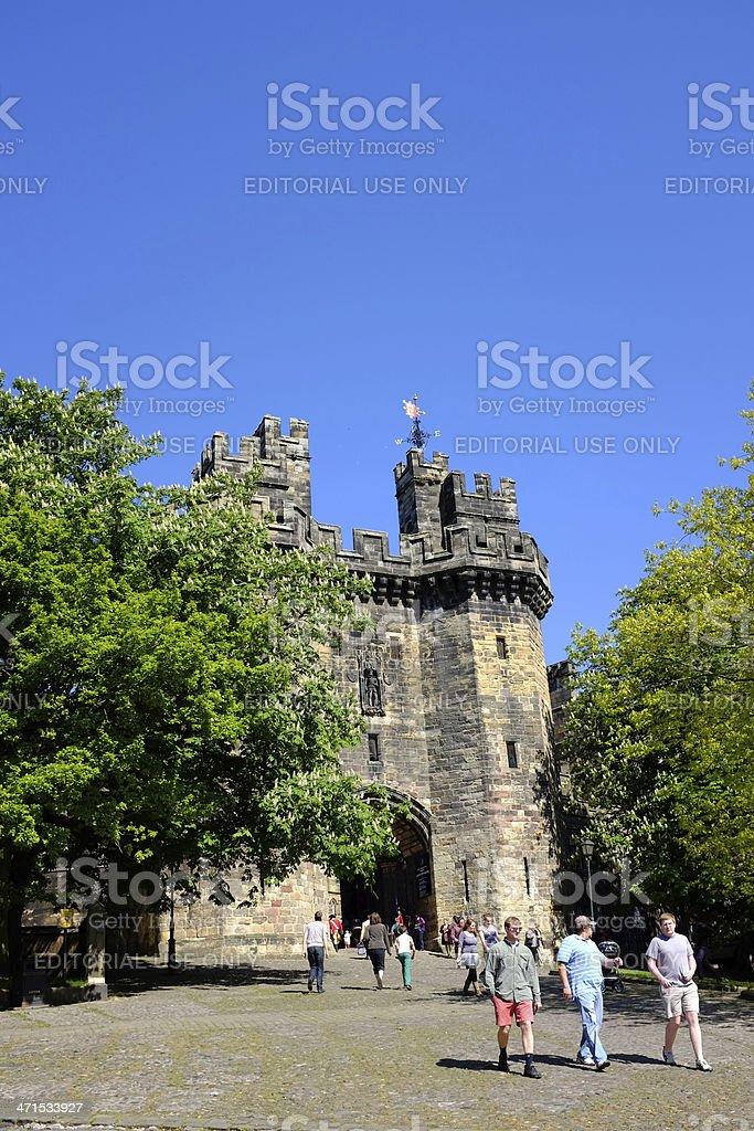 Lancaster Castle stock photo