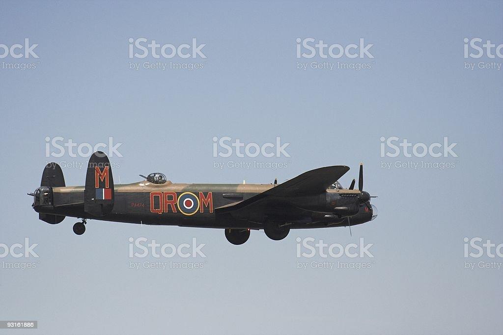 Lancaster in flight royalty-free stock photo