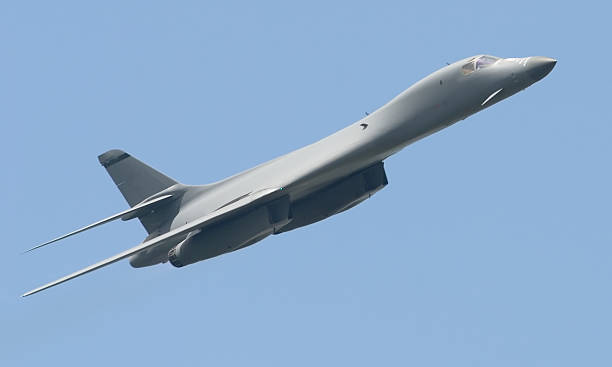 B-1 Lancer Bomber  bomber plane stock pictures, royalty-free photos & images