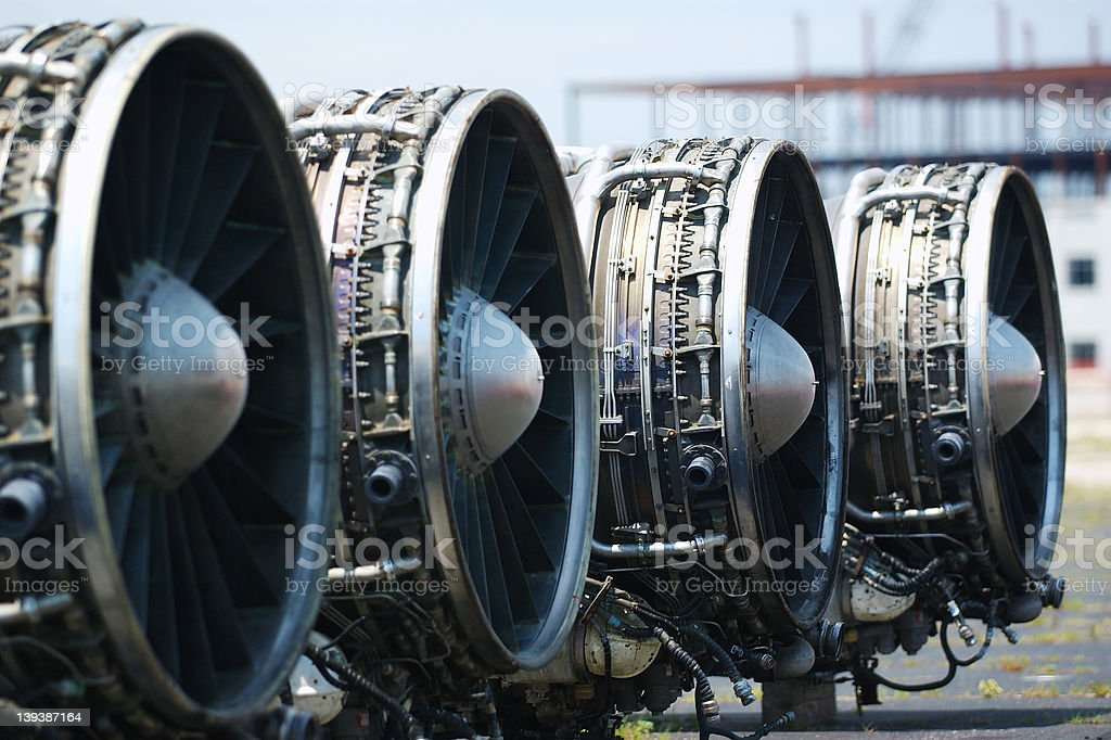 B-1 Lancer Engines royalty-free stock photo