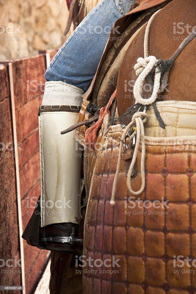 Lancer leg protection stock photo