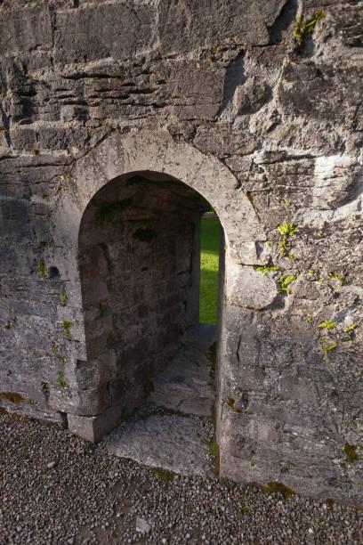 Lancet window, Cong Abbey, County Mayo, Ireland stock photo