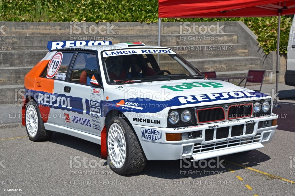 lancia delta hf integrale rally car stock photo more pictures of 1970 1979 istock. Black Bedroom Furniture Sets. Home Design Ideas