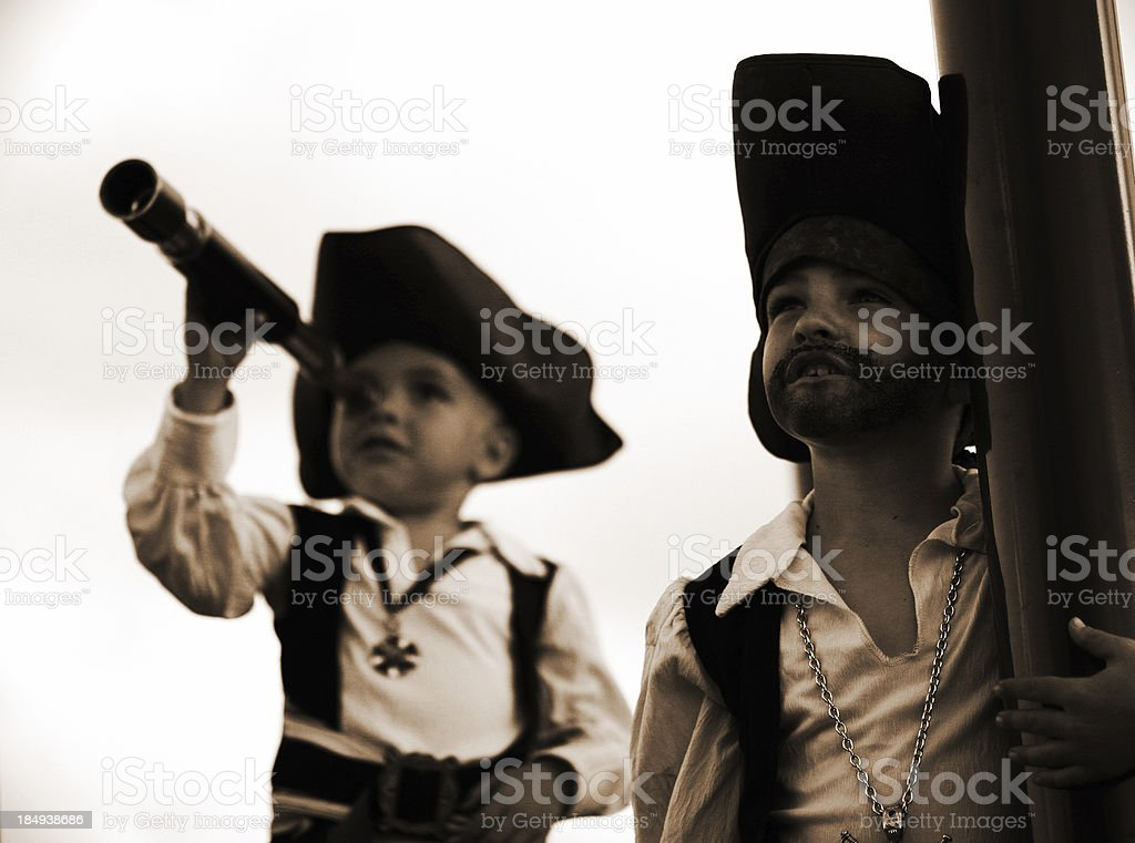 Land Ahoy! (Sepia) royalty-free stock photo