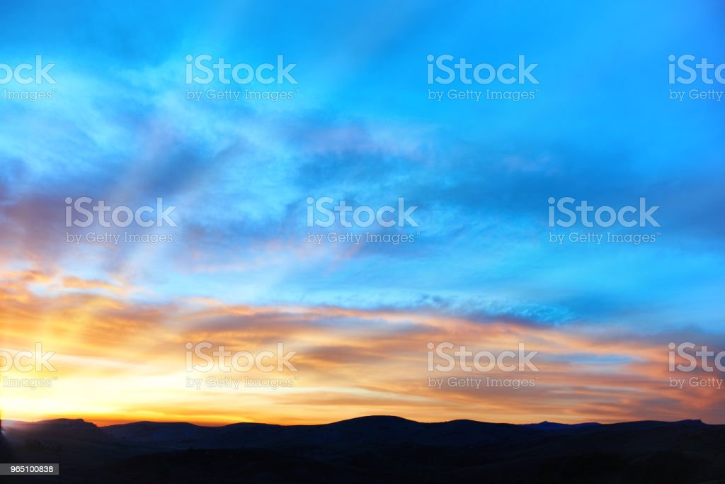 Land and dramatic sky royalty-free stock photo