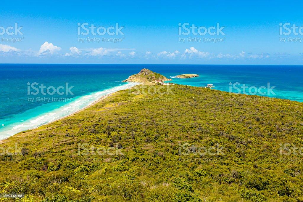 Land and sea stock photo