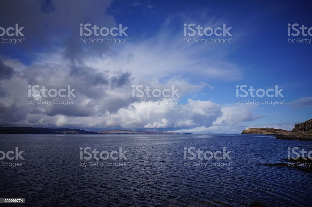 Land and the sea stock photo