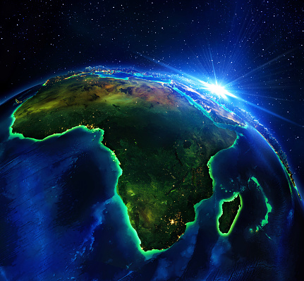 Africa, elements of this image furnished by NASA