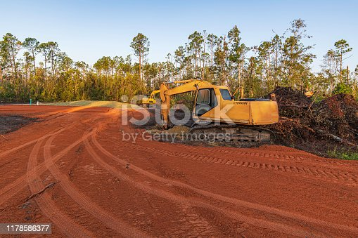 Land being cleared and prepaired for a mobile home