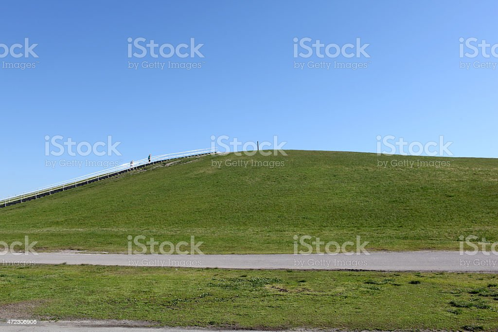 Land fill made into a city park. stock photo