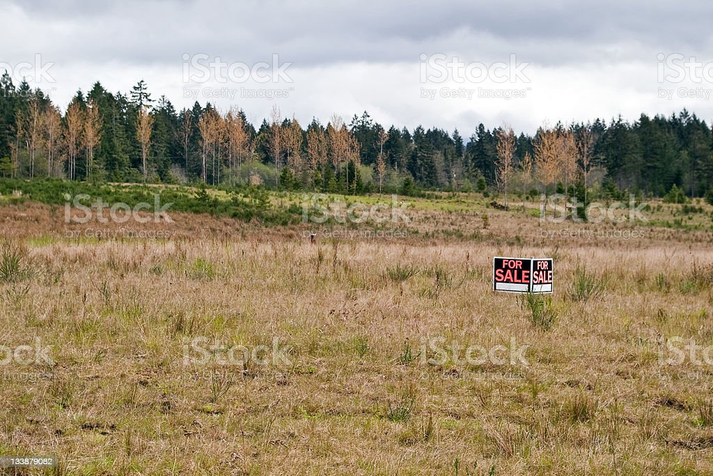 Land for Sale stock photo