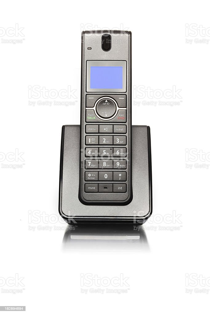 Land line telephone stock photo